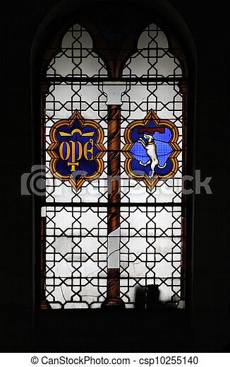 Stained glass in Pisa - csp10255140