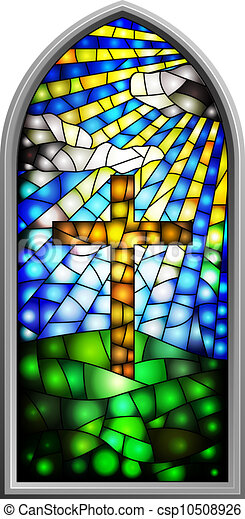 Stained glass window - csp10508926