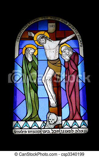 Stained glass window - csp3340199