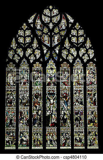 Stained glass window - csp4804110