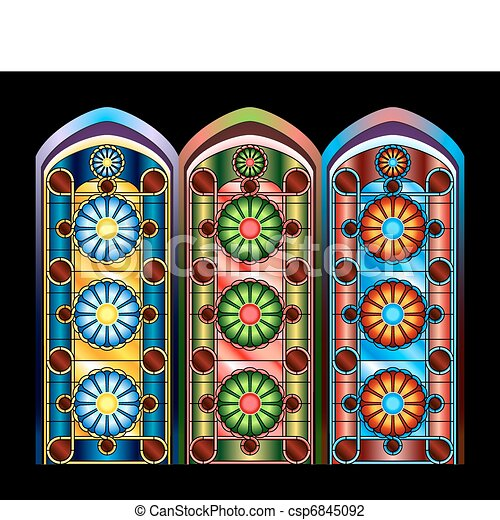 Stained glass windows - csp6845092