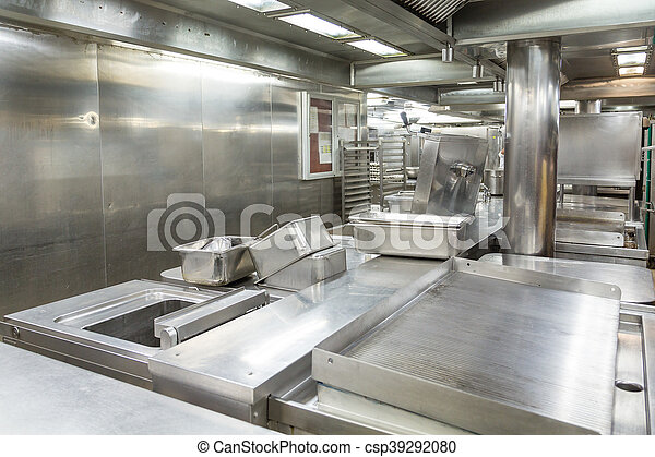 Stainless Steel Grill and Trays in Kitchen