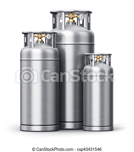 Stainless steel high pressure industrial containers for liquefied gas - csp43431546