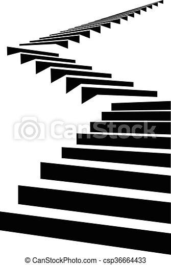 Stair in sky4 - csp36664433