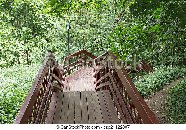 staircase in a summer park - csp21122807