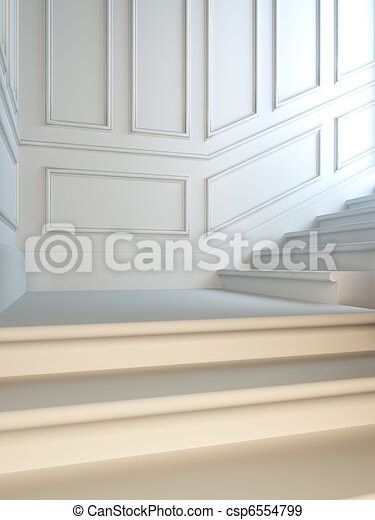 Staircase in classical style. - csp6554799