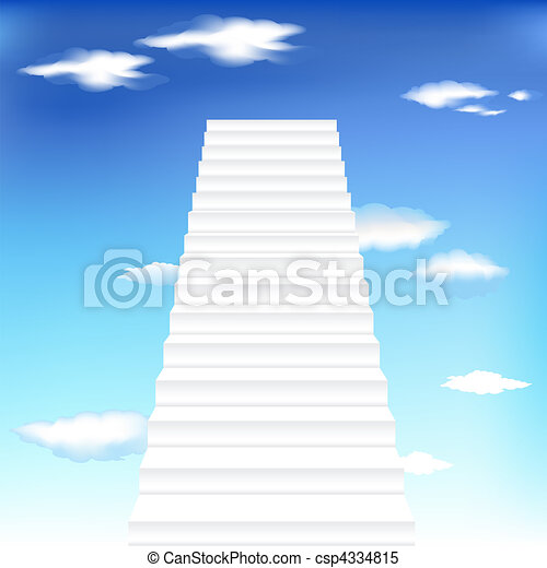 Staircase In Sky - csp4334815