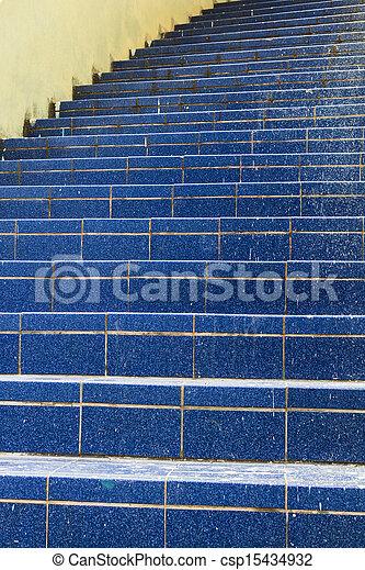 Stairs leading up to catholic church - csp15434932