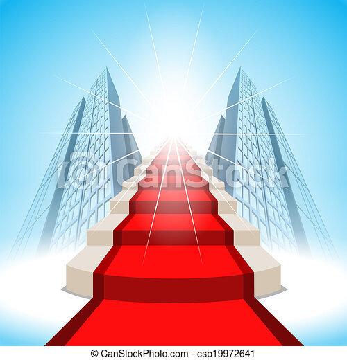 Stairs leading up to success. Vector - csp19972641
