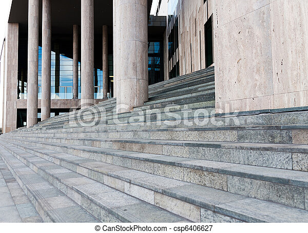 Stairs of a modern building - csp6406627