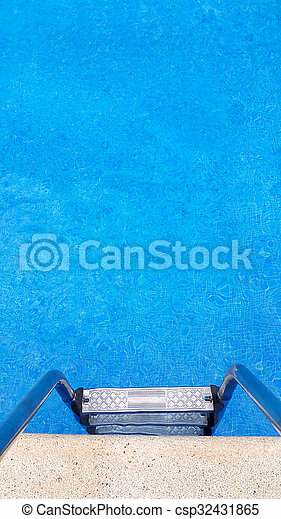 Stairs of a swimming pool - csp32431865