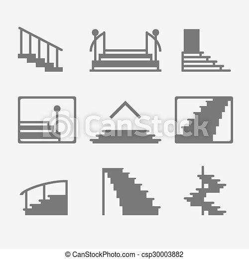 Stairs Or Stairway Icons   Csp30003882