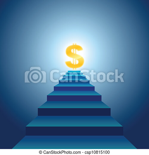 Stairs to Financial Success - csp10815100