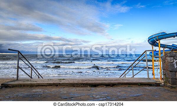 Stairs to the beach - csp17314204