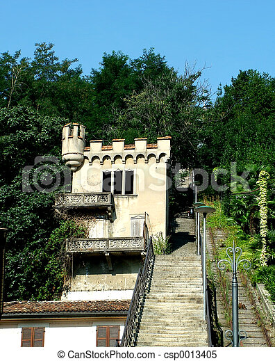 Stairway in Lugano - csp0013405