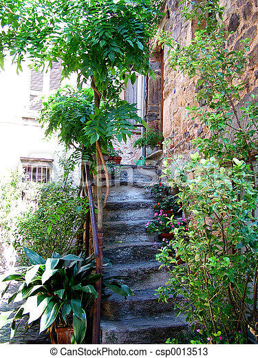 Stairway in Morcote - csp0013513