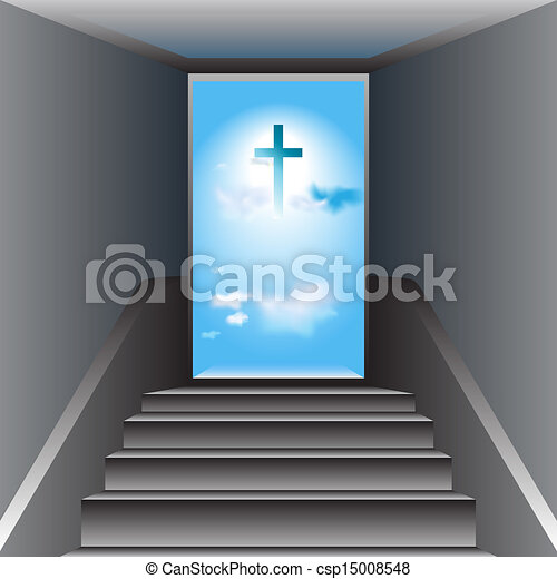Stairway to heaven way to god the cross of jesus christ gray the cross of jesus christ csp15008548 altavistaventures Gallery