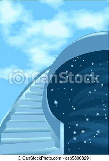 Stairway to sky - csp58008291