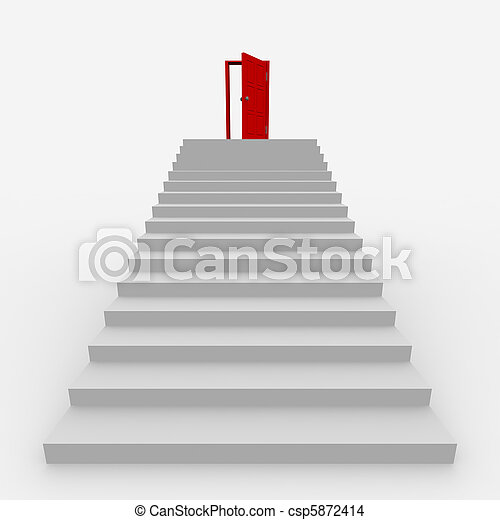 Stairway to the top - csp5872414