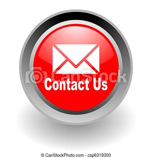 stal, kontakt, glosssy, na, ikona - csp6319300