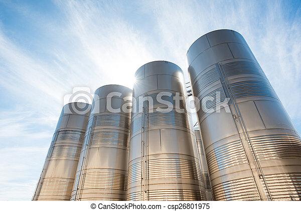stal, niesplamiony, silosy - csp26801975