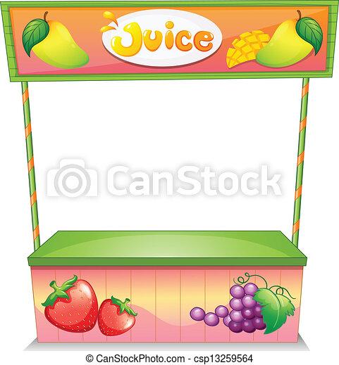 stalletje, verkoper, fruit - csp13259564