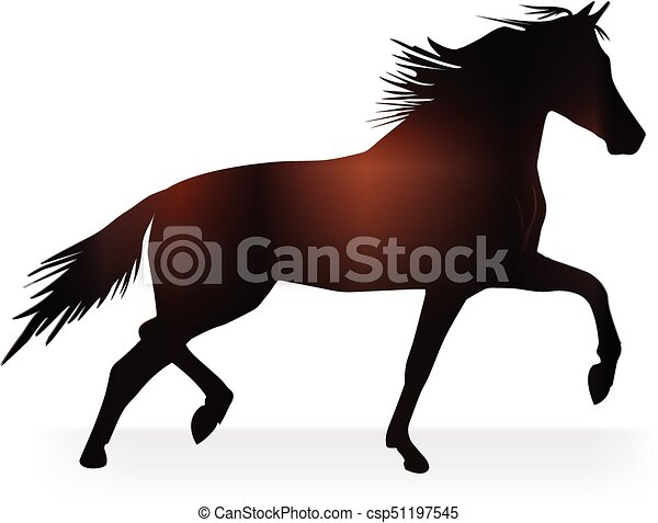 Stallion beautiful horse logo - csp51197545