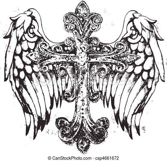 stam, kors, vinge - csp4661672