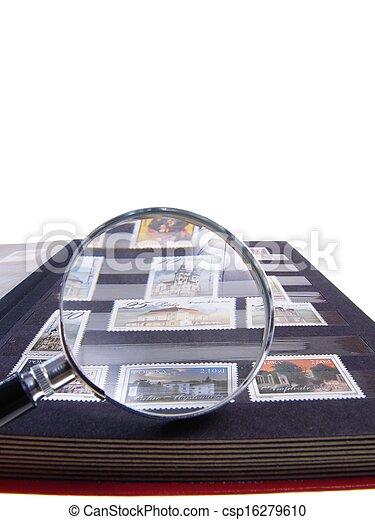 Stamp Album Isolated - csp16279610