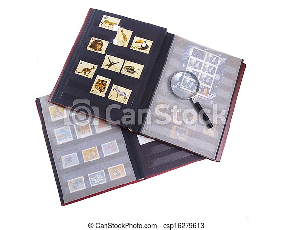 Stamp Album Isolated - csp16279613