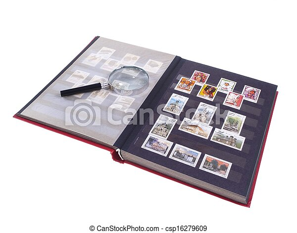Stamp Album Isolated - csp16279609