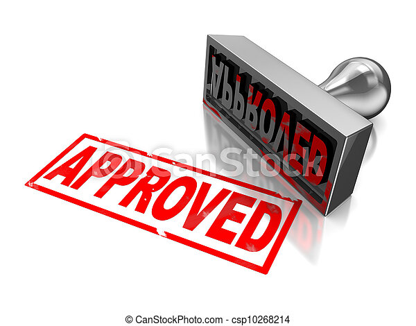 Stamp approved - csp10268214