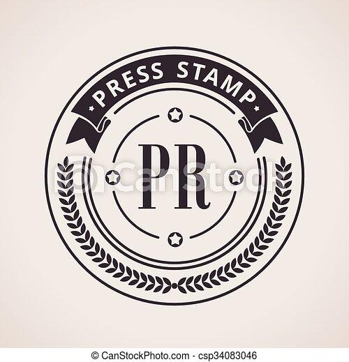 Stamp Calligraphic Design Logo Luxury Vector Frame Monogram