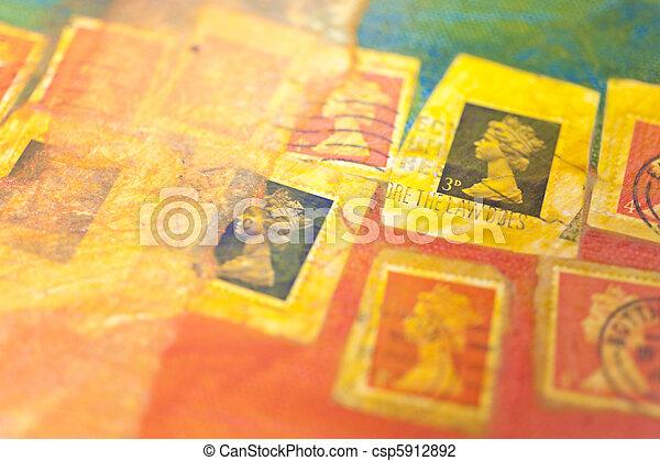 Stamp collage - csp5912892