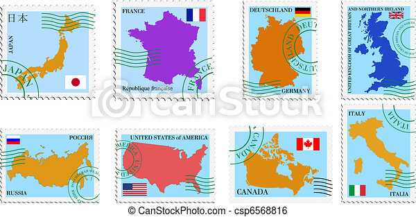 stamp collection - csp6568816