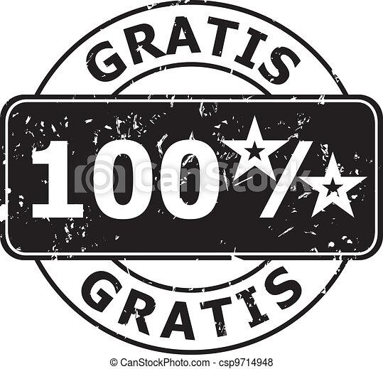 Stamp Gratis - csp9714948