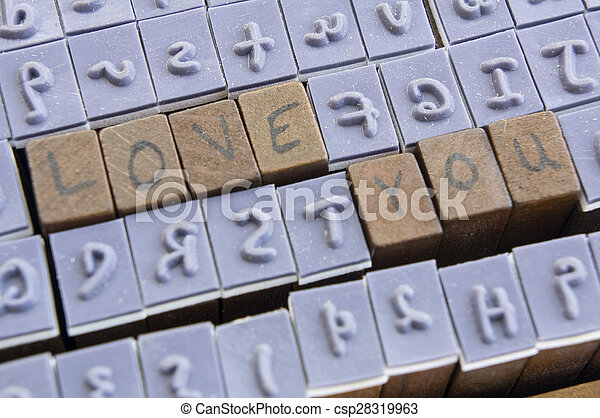 stamp letter alphabet type fonts word concept - csp28319963