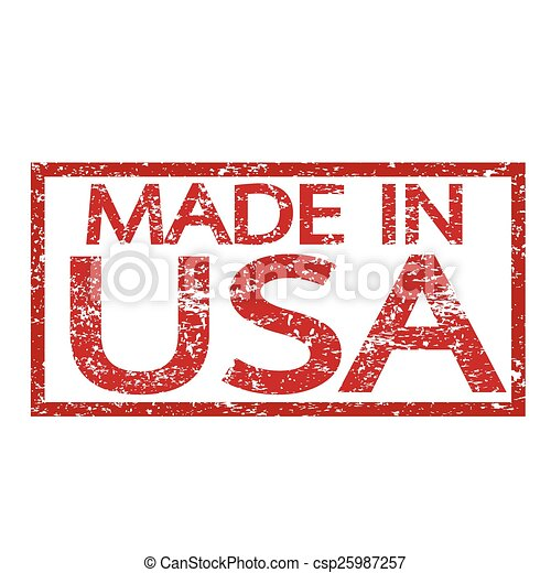Stamp Made In USA - csp25987257