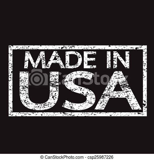 Stamp Made In USA - csp25987226