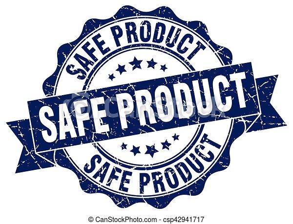 stamp., prodotto, sicuro, segno., sigillo - csp42941717