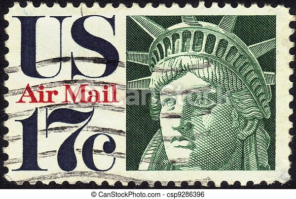stamp Statue of Liberty 17 c - csp9286396