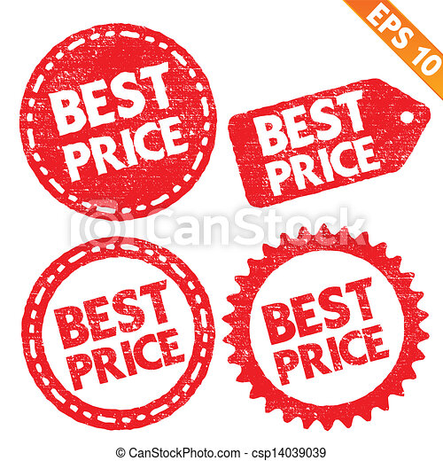 Stamp sticker best price tag collection  - Vector illustration - EPS10 - csp14039039