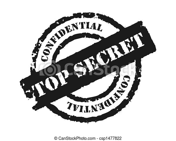 stamp top secret an effective to show the something is confidential