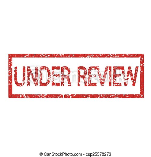 stamp under review text - csp25578273
