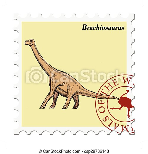 stamp with animal - csp29786143