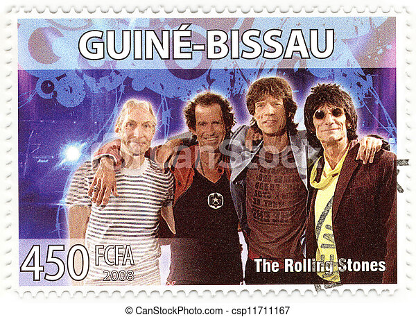stamp with famous group The Rolling Stones - csp11711167