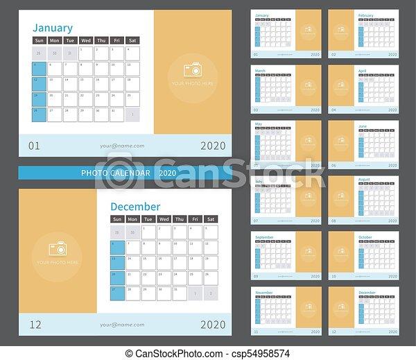 Calendario Fotografico 2020.Stampa Foto Pronto 2020 Calendario