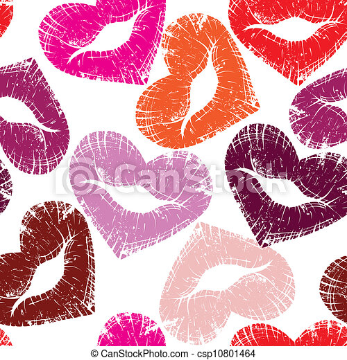 stampa, labbra, bacio - csp10801464