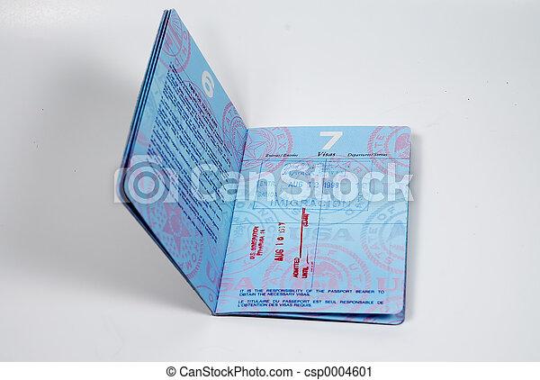 Stamped Passport - csp0004601