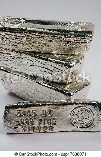 Stamped Silver Bullion Bars - csp17638071